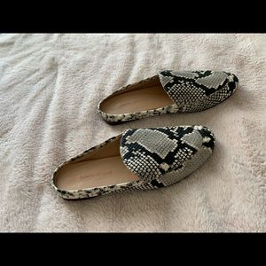 Banana republic leather backless loafers